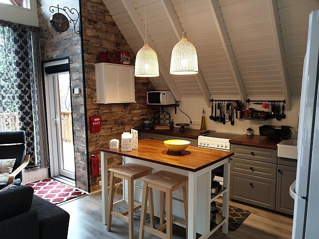 Küche im Ferienhaus in Island