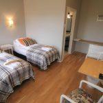 Twinbett Zimmer im Hotel Laekur in Südisland