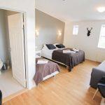 Dreibettzimmer im Hotel Laekur in Südisland