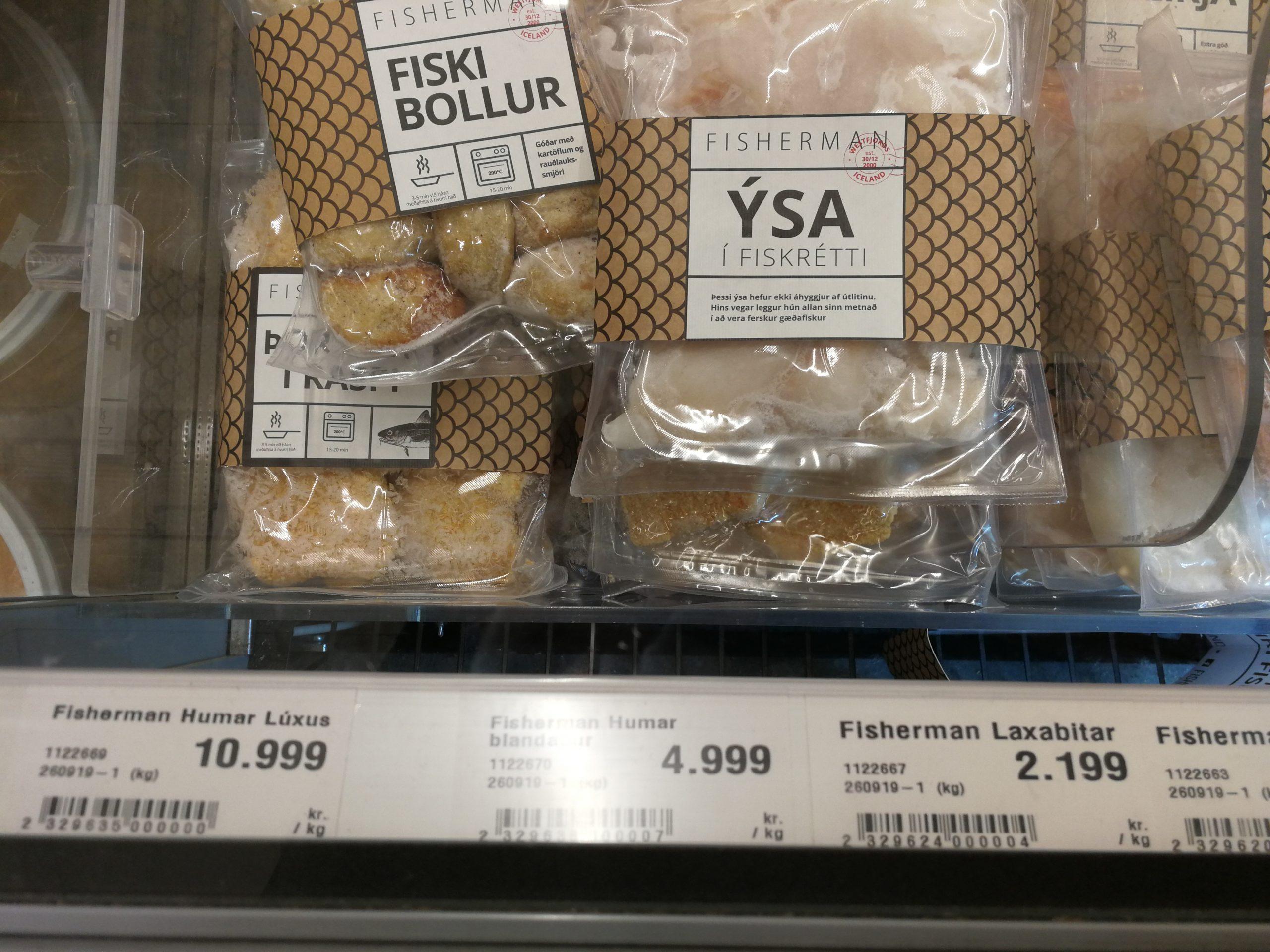 Fisch in einem Supermarkt in Island