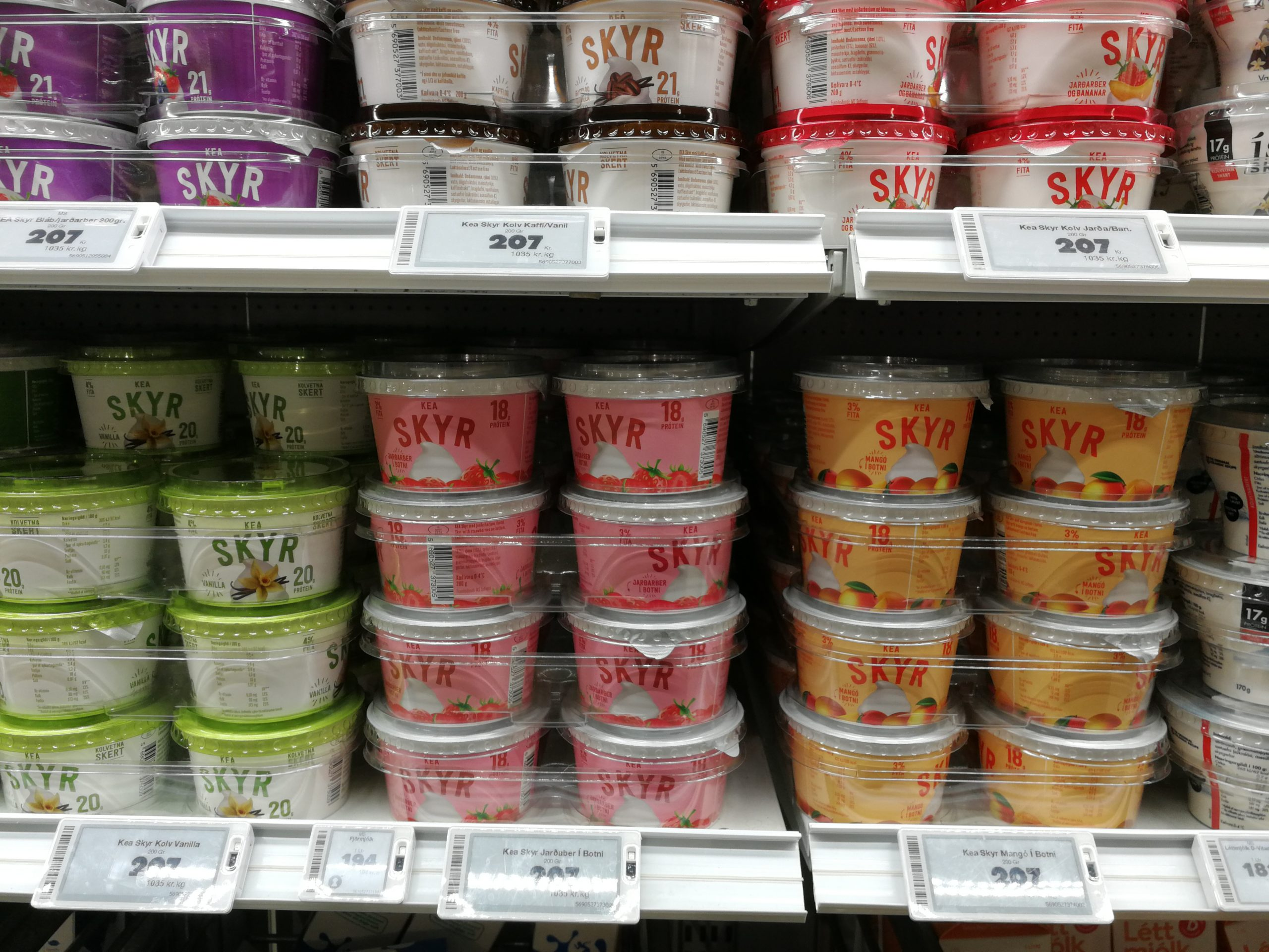 Skyr in einem Supermarkt in Island