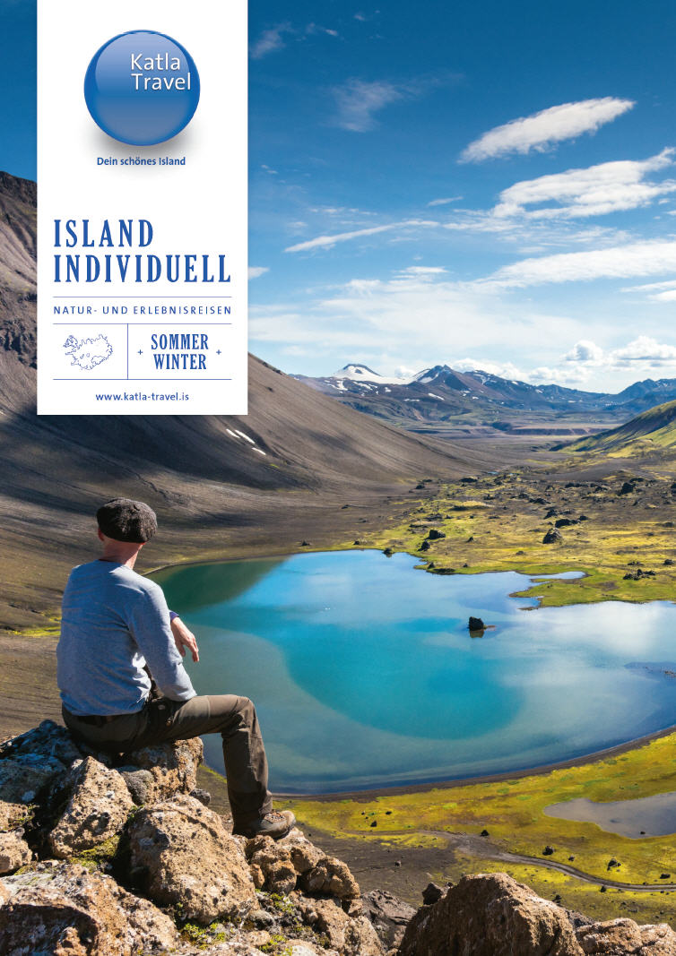 Titelbild des Katla Travel Reisekataloges Islandreisen