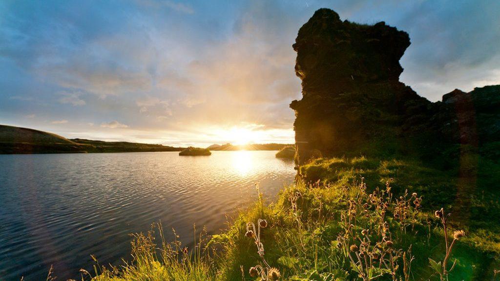Mývatn See in Island