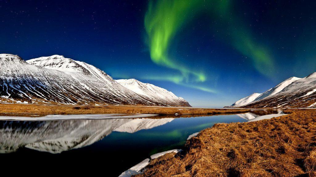 Polarlichter im Winter