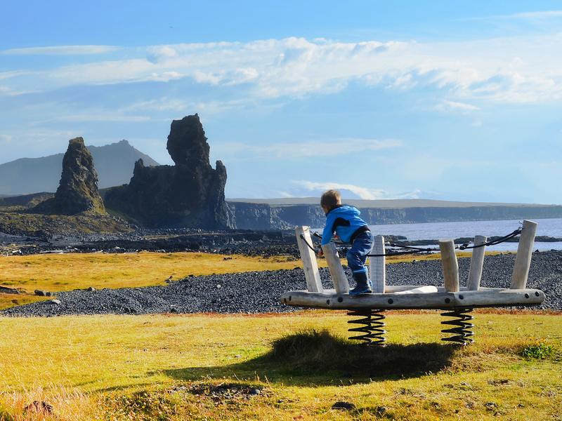 Abenteuerspielplatz auf Snaefellsneshalbinsel
