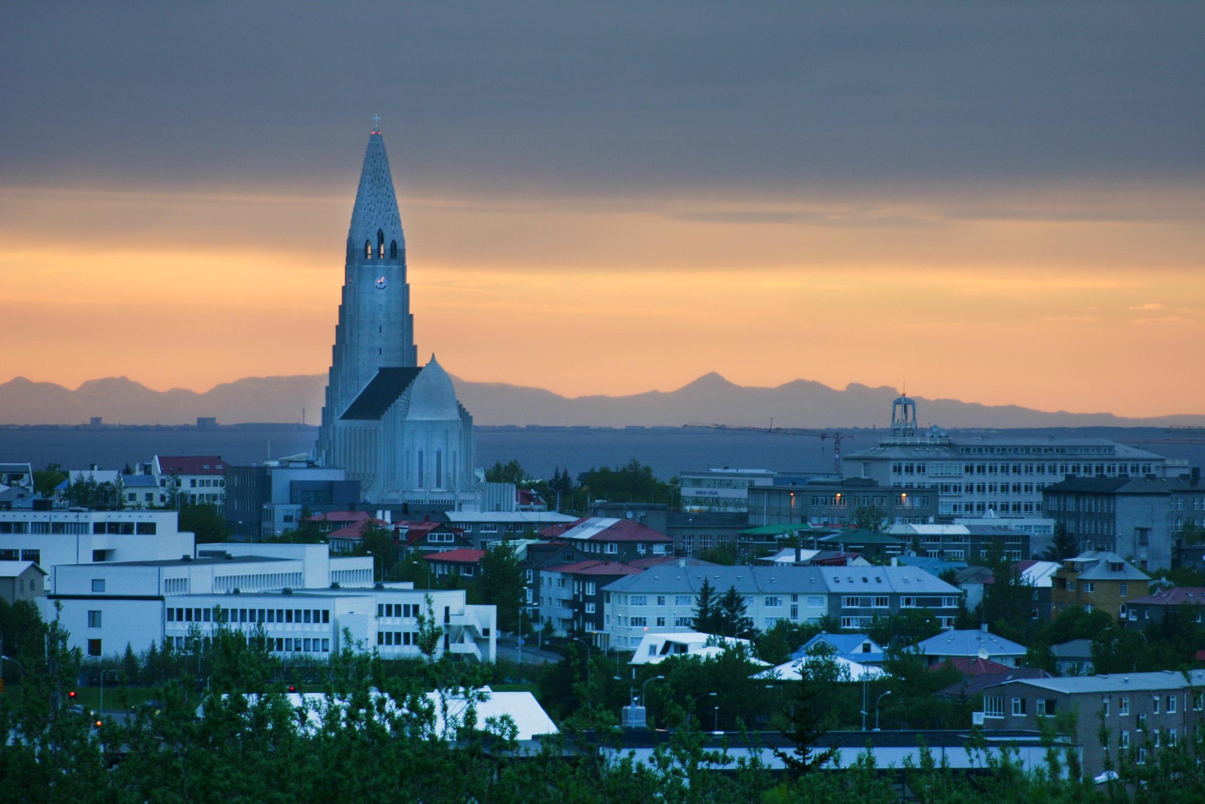 Island, Suedisland, Reykjavik, Hallgrimskirche, Hallgrimskirkja, Kicrhe