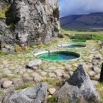 mehrere Hot Pot in Südost Island