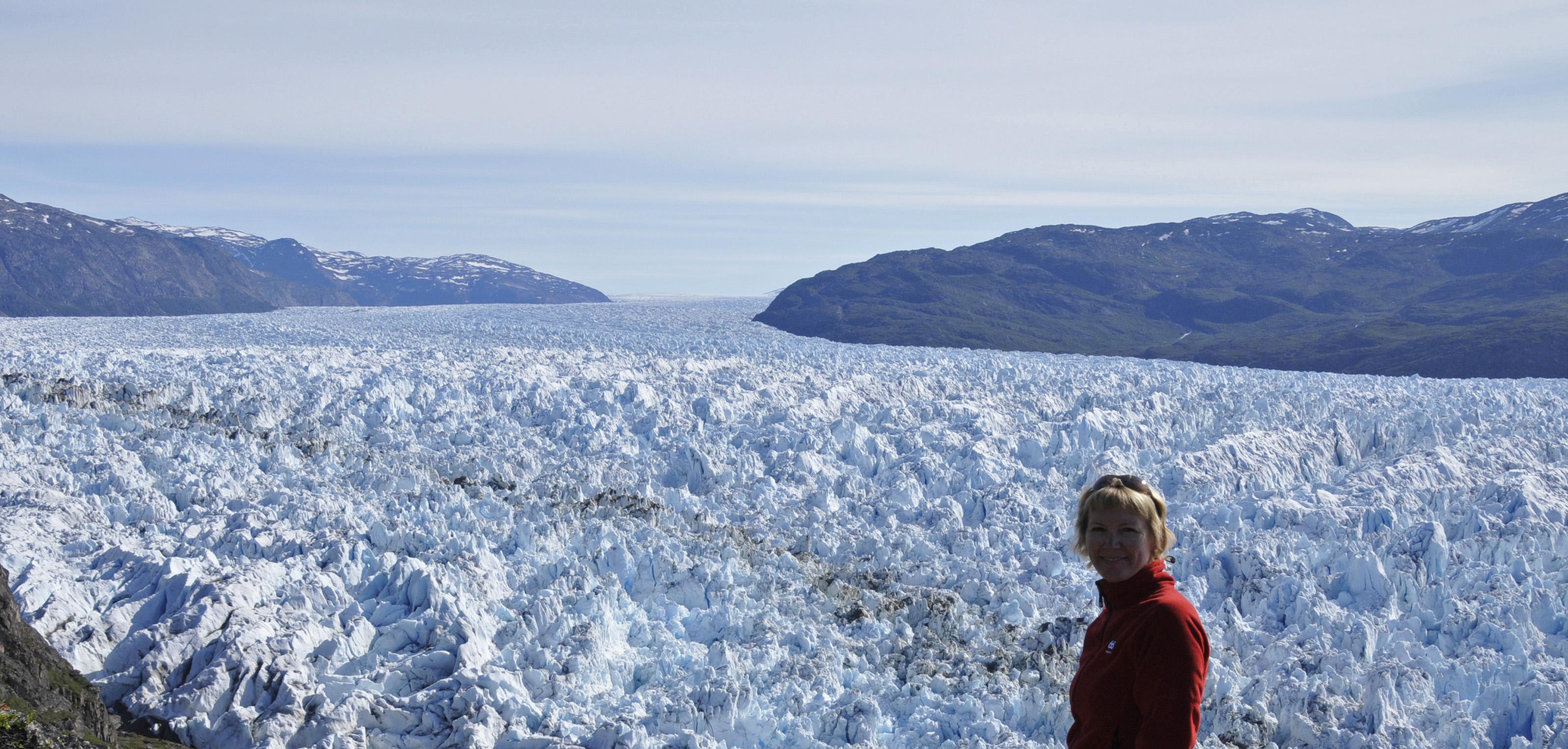 riesiger Eisgletscher in Südgrönland