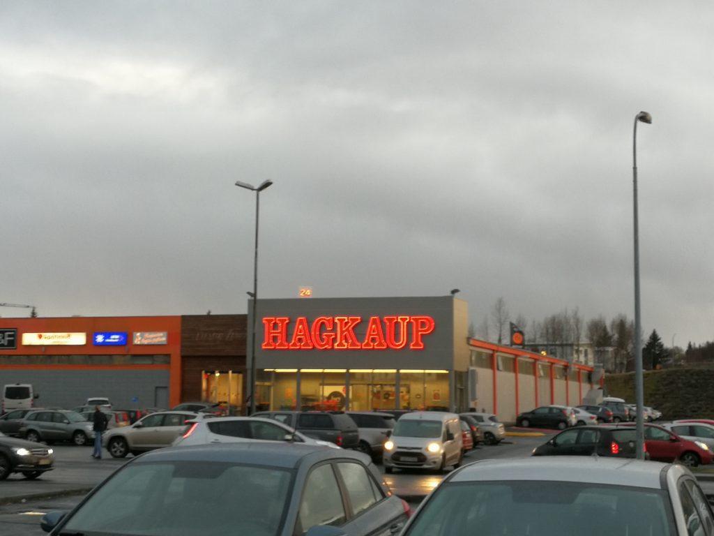 Supermarkt Hagkaup in Reykjavík, Außenansicht