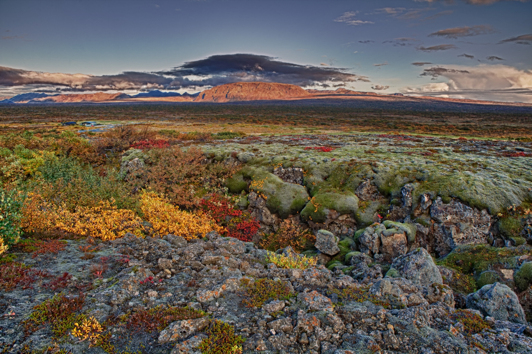 Herbstfarben im September in Island