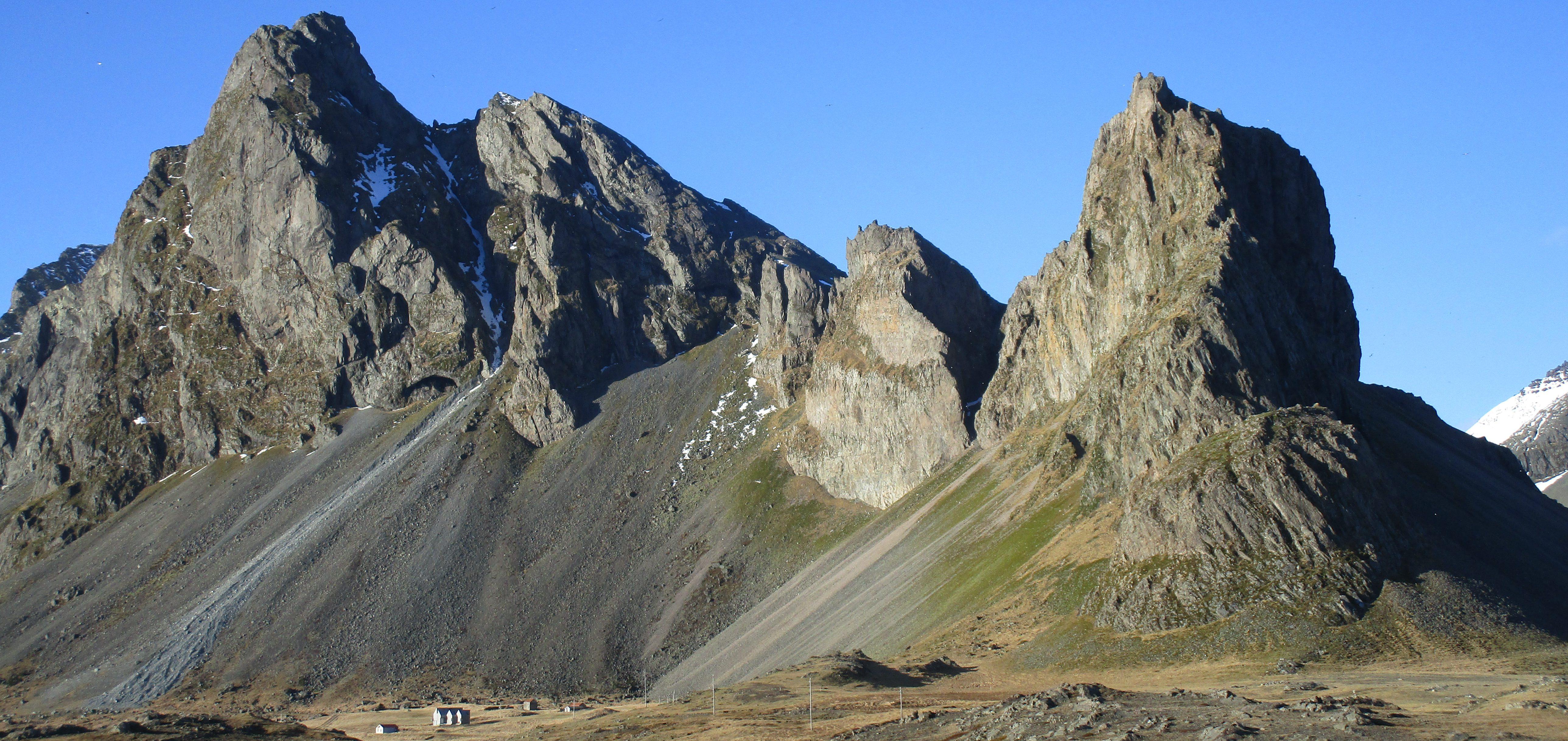 markante Berge in Südost-Island